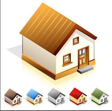 Creative house models vector design