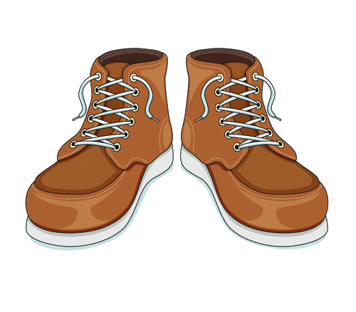Creative low shoe vector graphics 01