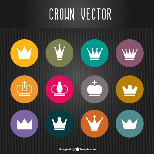 Crowns vector set   Vector | Free Download