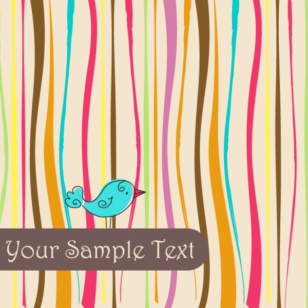 cute Birds background vector 02