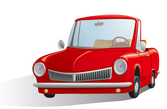 Cute cartoon car 03 free vector