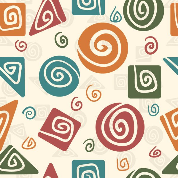 cute cartoon Decorative pattern background vector 04