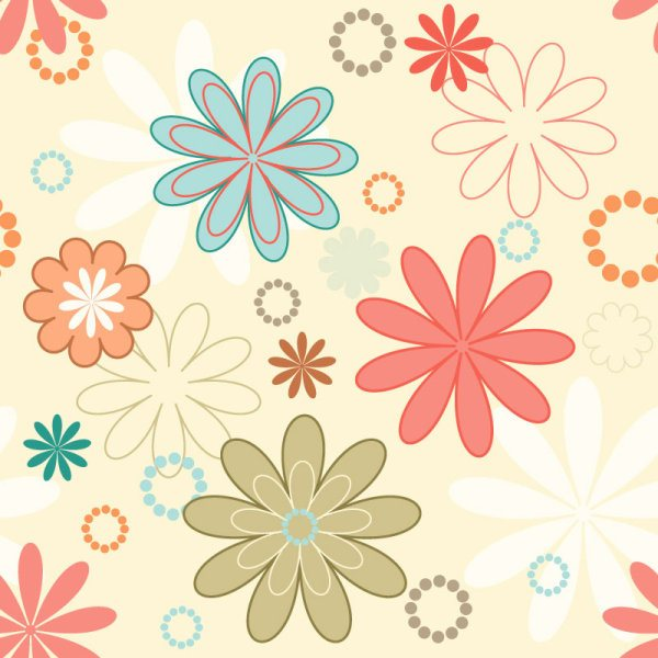 cute cartoon Decorative pattern background vector 02
