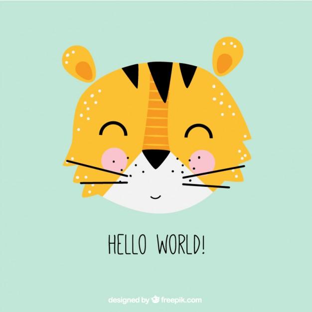 Cute tiger illustration