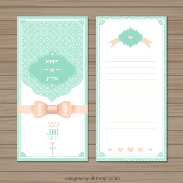 Cute wedding invitation