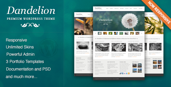 Dandelion – Powerful Elegant WordPress Theme – WordPress