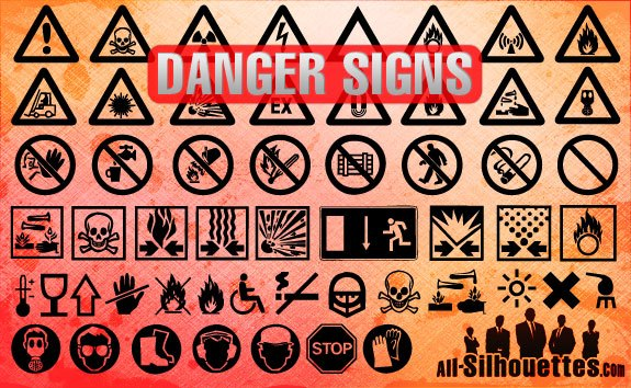 Danger Signs – All-Silhouettes