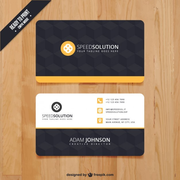 Dark business card template  Vector | Free Download