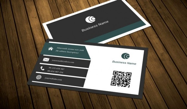 Dark slate business card template  PSD file | Free Download