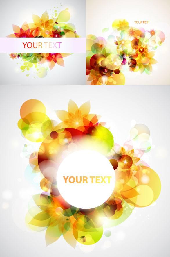 Dazzling flower background vector art