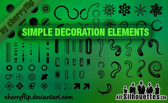 Decoration Elements – All-Silhouettes