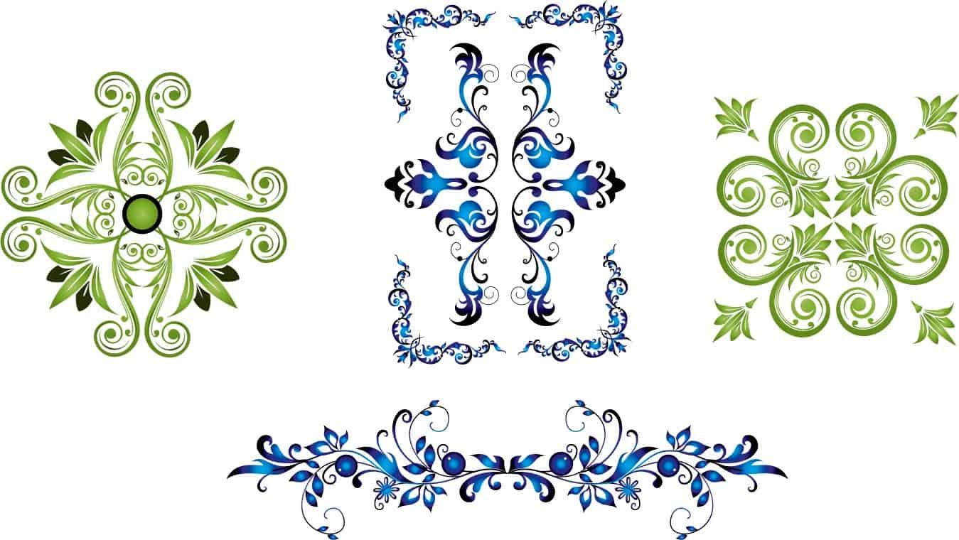 Delicate floral frames vector