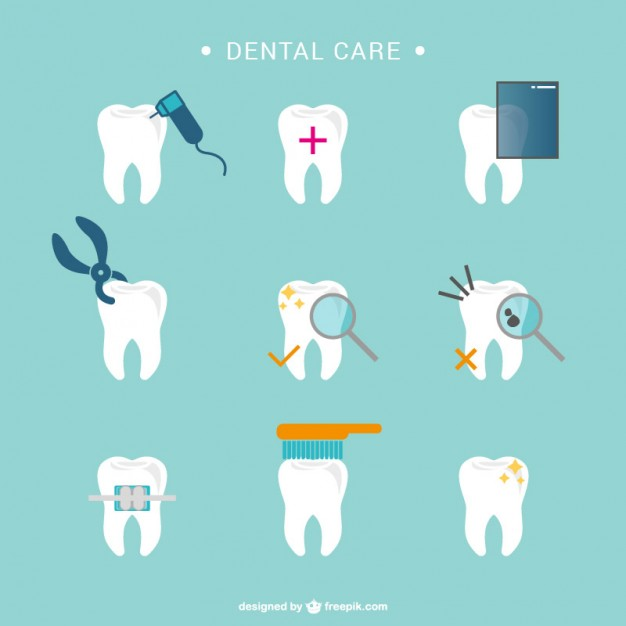 Dental care tooth icons  Vector | Free Download