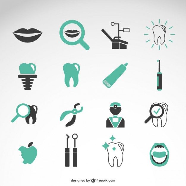 Dentist vector icons collection  Vector | Free Download