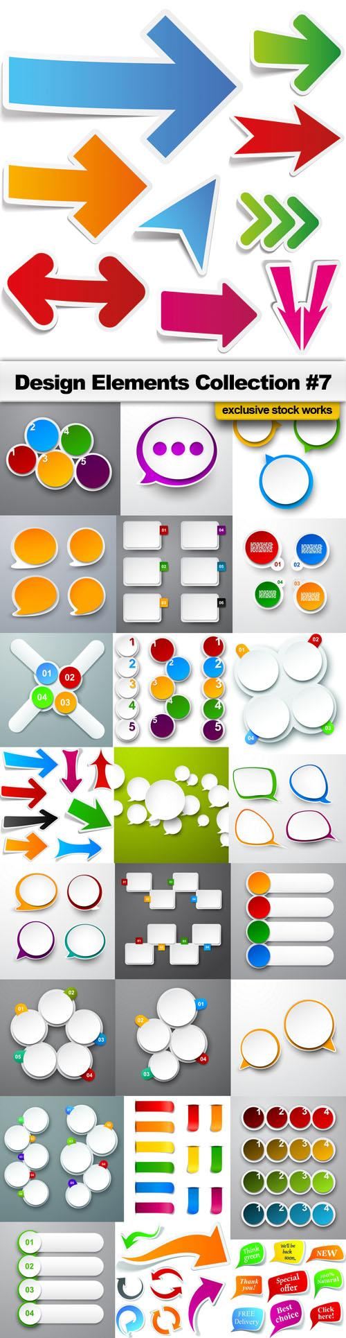 Design Elements Collection #7 – 25 EPS