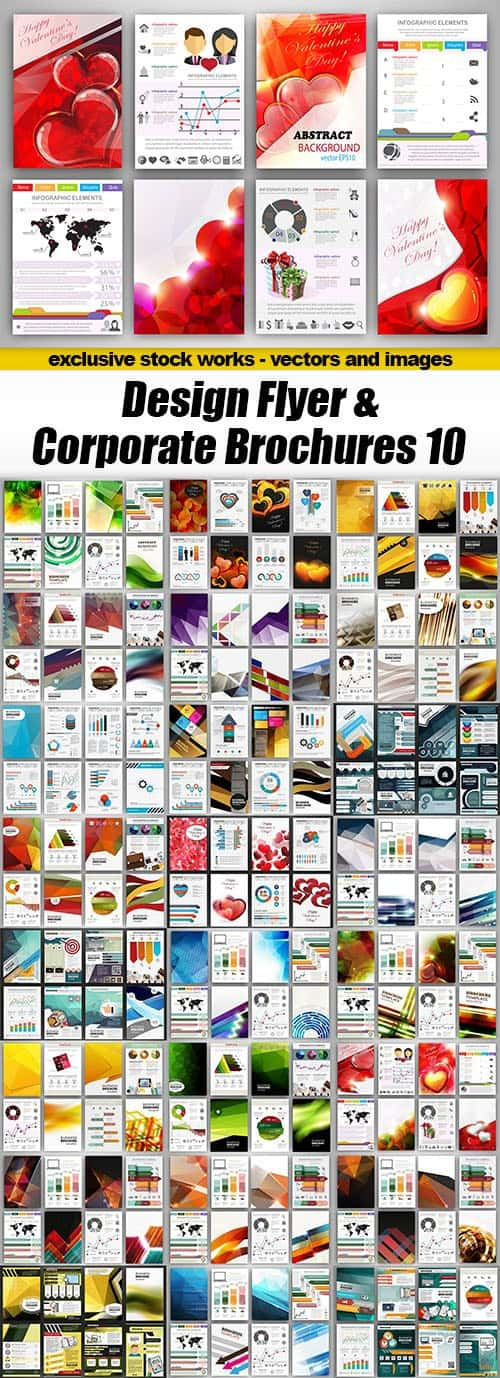 Design Flyer & Corporate Brochures 10 – 25xEPS