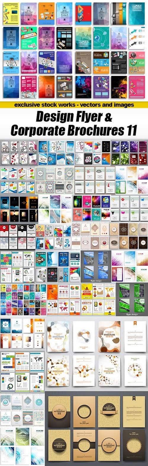 Design Flyer & Corporate Brochures 11 – 30xEPS