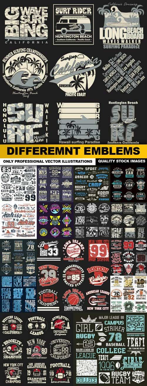 Differemnt Emblems – 15 Vector
