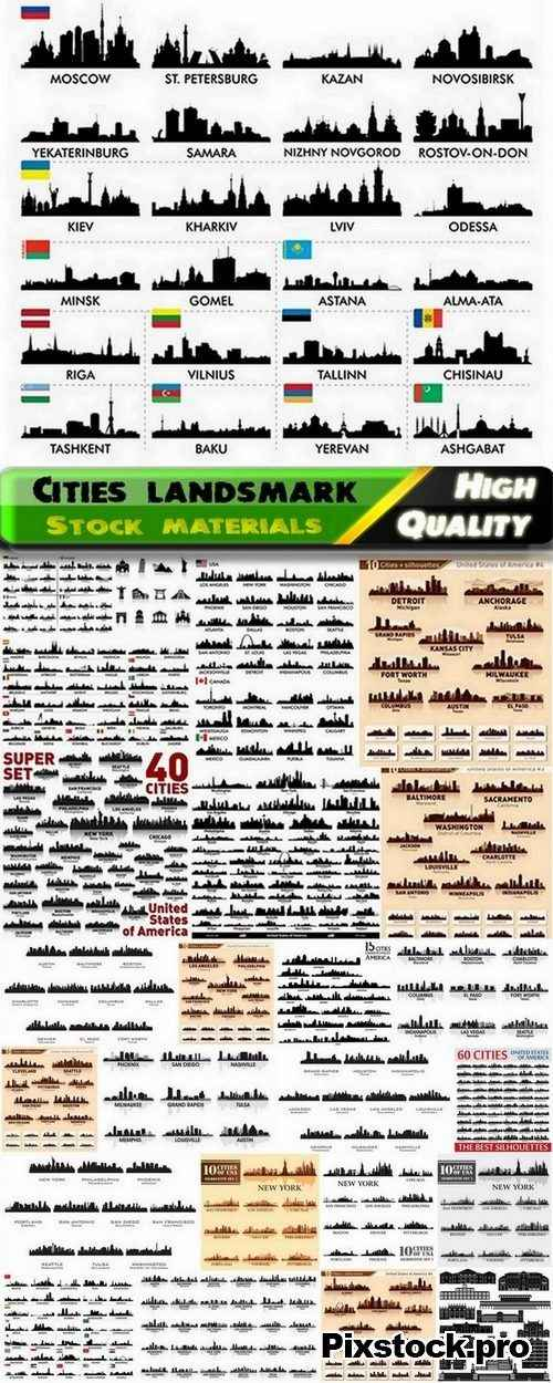 Different cities landsmark and skyline 3 – 25 Eps