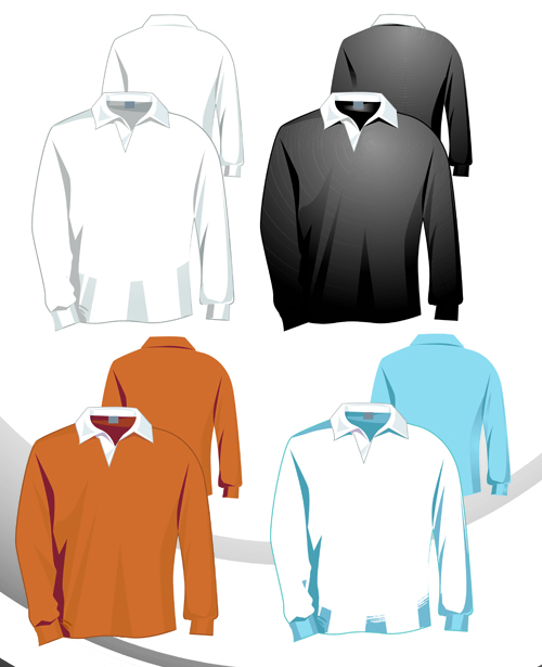 Different Clothes art design vector graphics 01