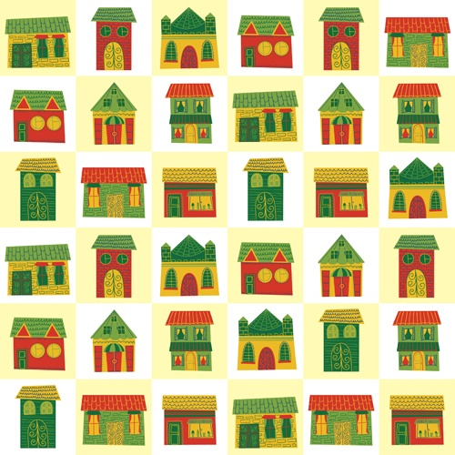 Different house set vector 06