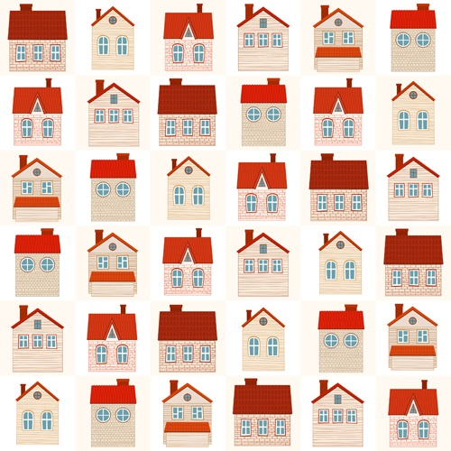 Different house set vector 03