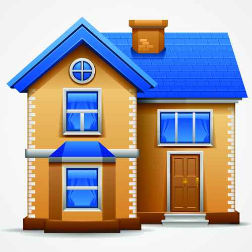 Different Houses design elements vector 02