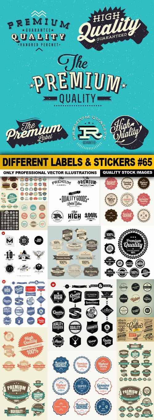 Different Labels & Stickers #65 – 20 Vector