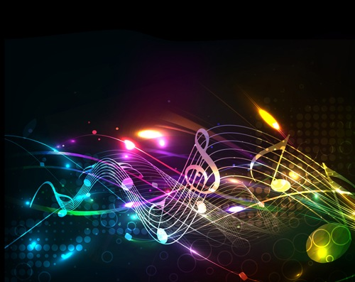 Different Music elements vector backgrounds art 03