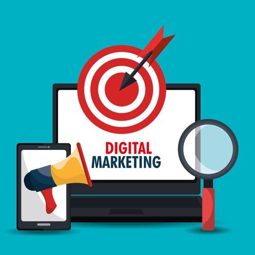 Digital marketing infographics vector material 01