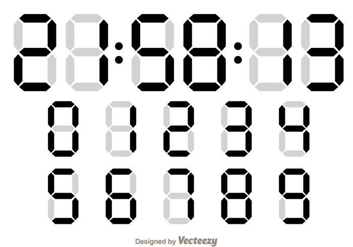 Digital Number Counter – Download Free Vector Art, Stock Graphics & Images