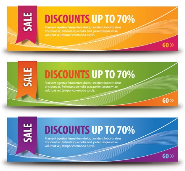 discount banners  Vector | Free Download