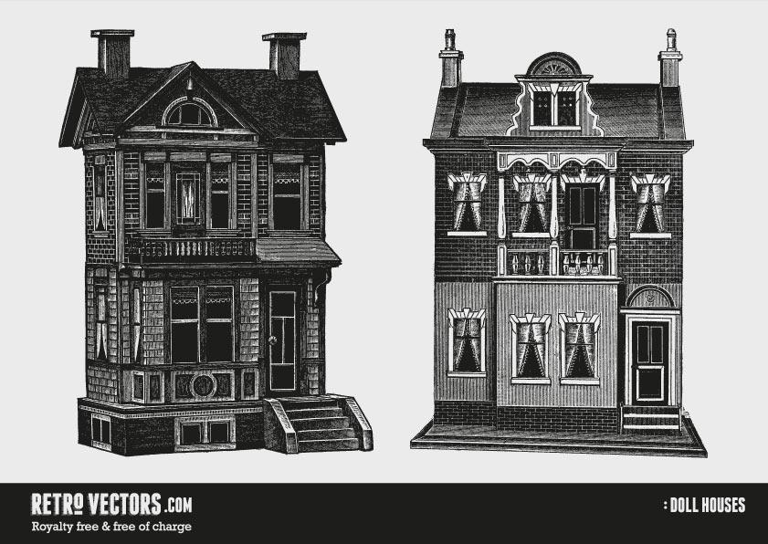 Doll Houses | Free Retro Vectors