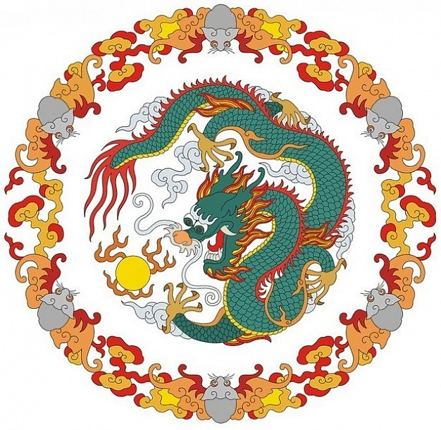 Dragon circles design