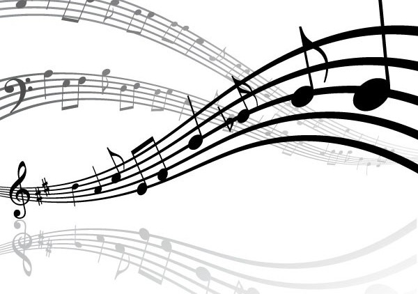 Dynamic music background set vector