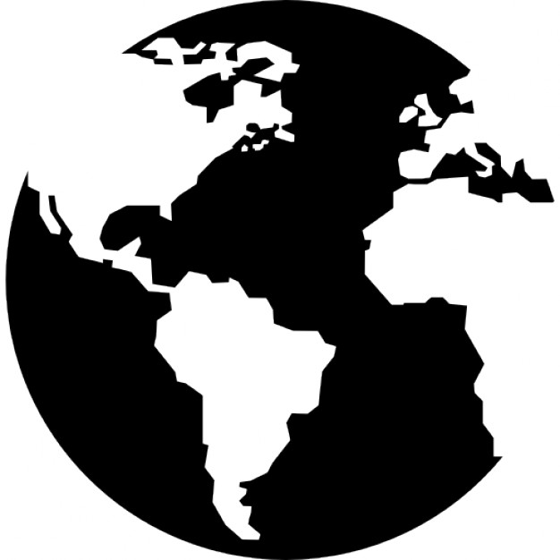 Earth globe with continents maps  Icons | Free Download