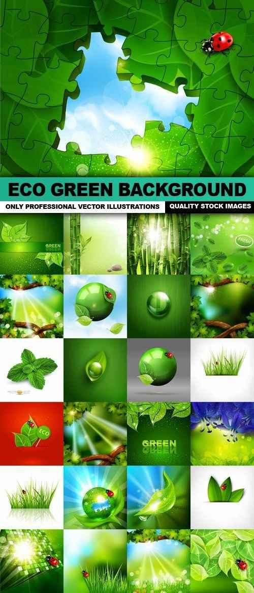 Eco Green Background – 25 Vector