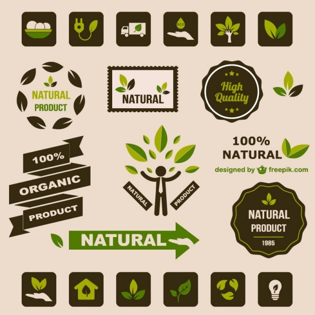 Ecology flat retro graphic elements   Vector | Free Download