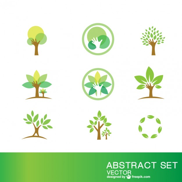 Ecology symbols set   Vector | Free Download
