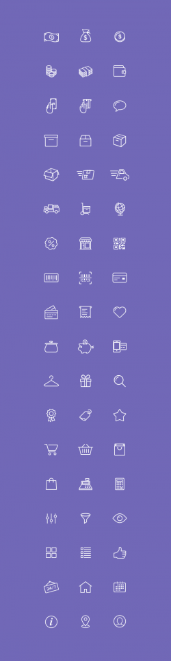 54 E-Commerce Icons | GraphicBurger