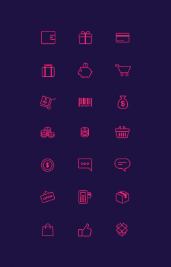 21 E-Commerce Icons | GraphicBurger