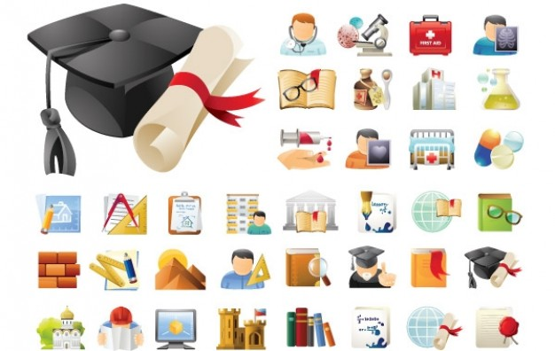 Education & Science 45 Icons Sets  Vector | Free Download