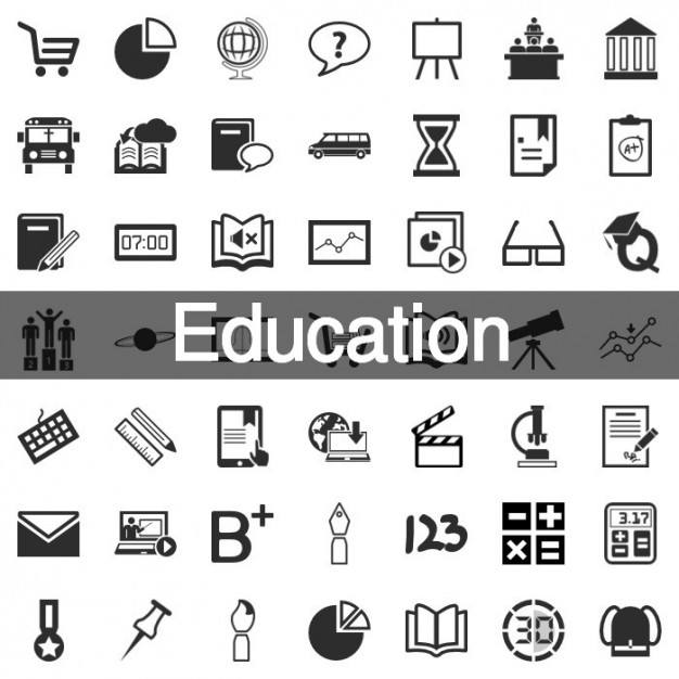 199 Education icon set