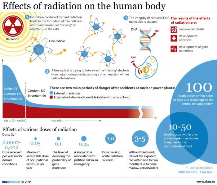 Effects of Radiation on the Human Body? [Infographic] | Daily Infographic