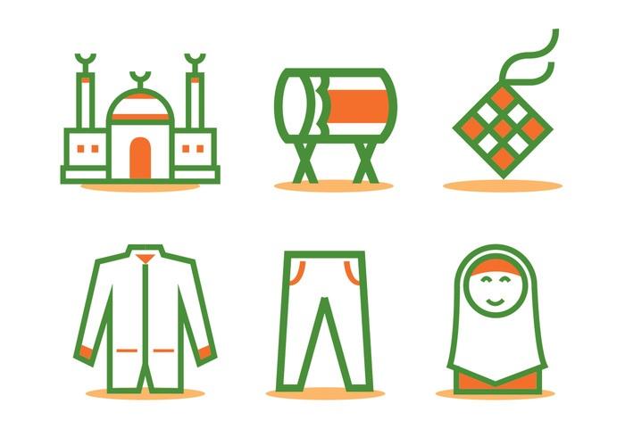 Eid Al Fitr Icon Vector Set
