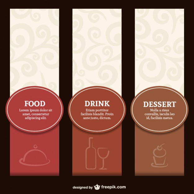Elegant restaurant label menu set  Vector | Free Download
