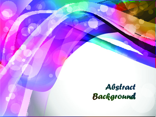 Elements of Abstract Colorful wave vector background 05