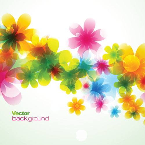 Elements of Abstract Halation background vector 05