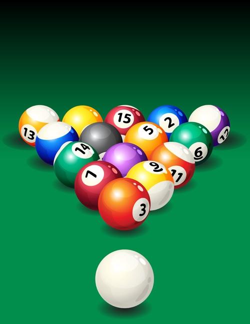 Elements of Billiards vector 02