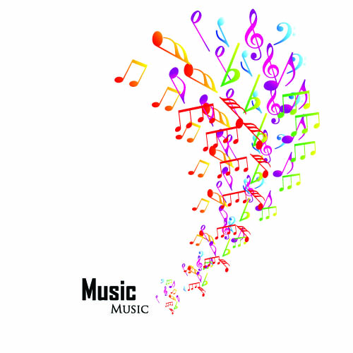 Elements of Sheet Music and Music design vector 04